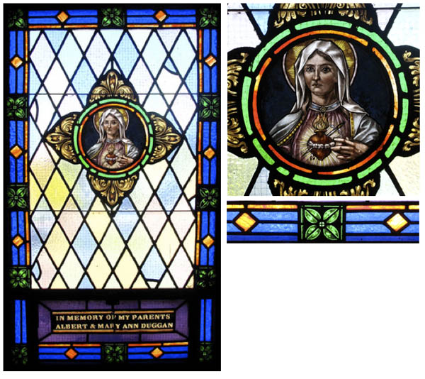 Window- Immaculate Heart of Mary