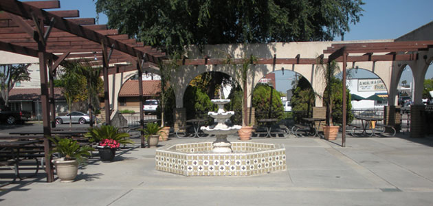 St Isidore Plaza Fountain Daylight