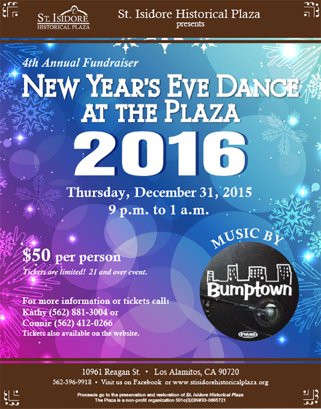 4th Annual NEW YEAR'S EVE DANCE 2016