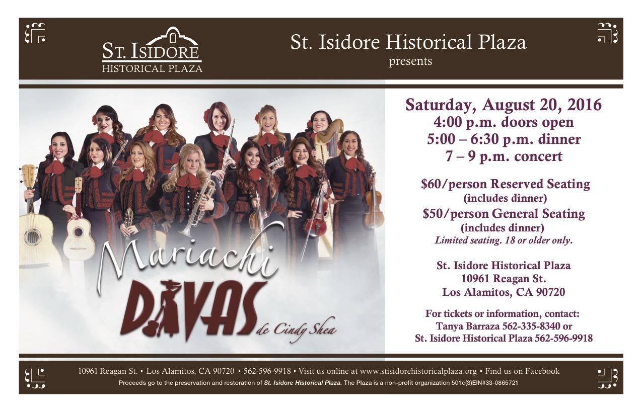 2016 mariachi Divas at St. Isidore Historical Plaza