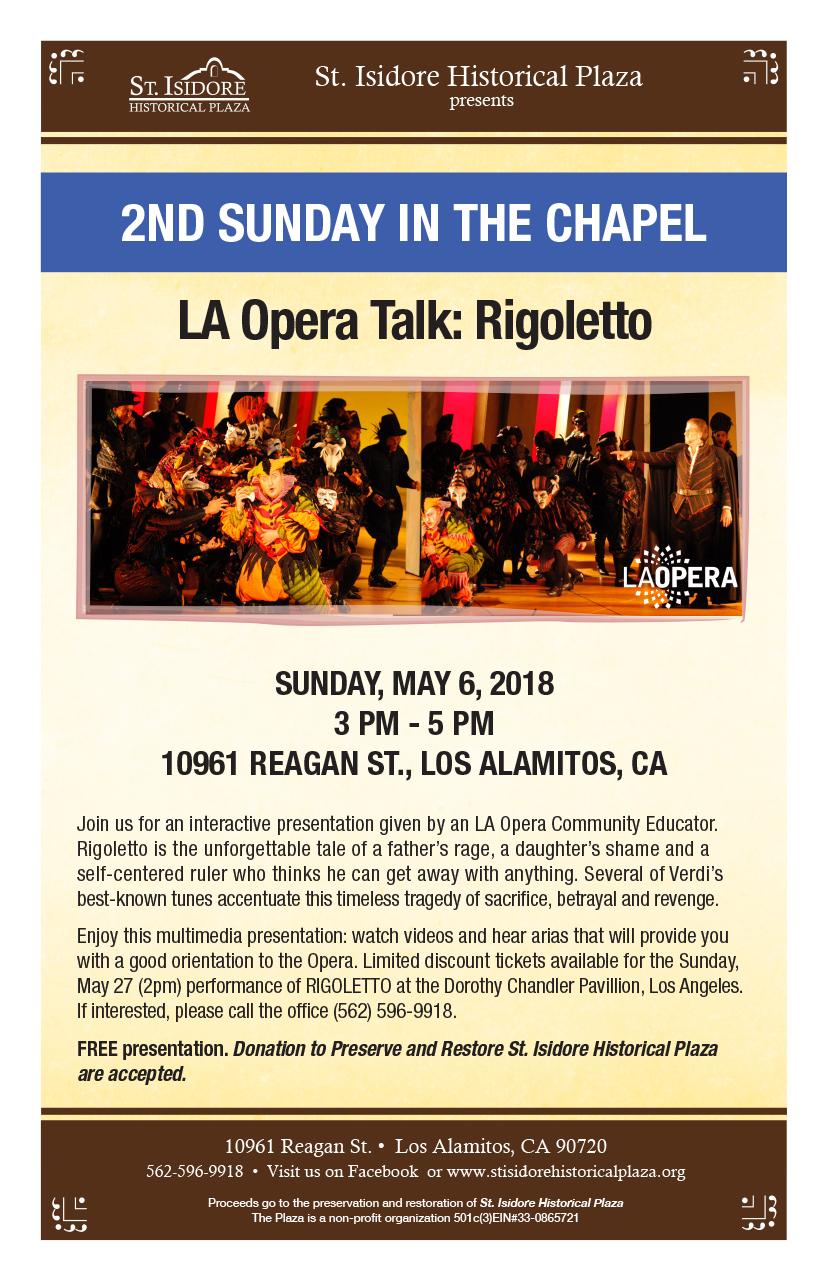 L.A. Opera Talk-Rigoletto - May 6th 2018